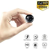 Mini Camera 1080P/720P Full HD, UYIKOO 6 LED Infrared Night Vision Motion Detection Portable Camera Home Surveillance Camera Nanny Cam