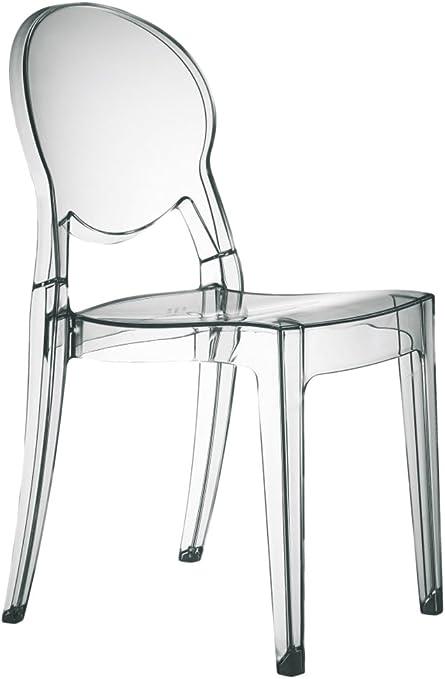 Sedie Trasparenti In Plastica.Set Di 4 Sedie Igloo Chair In Policarbonato Trasparente Amazon It