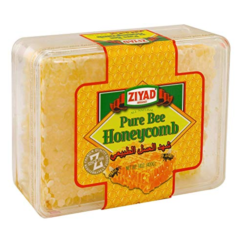 Ziyad Raw All-Natural Honeycomb, 100% Pure Unfiltered Honey Comb, No Additives, No Preservatives, 14 OZ
