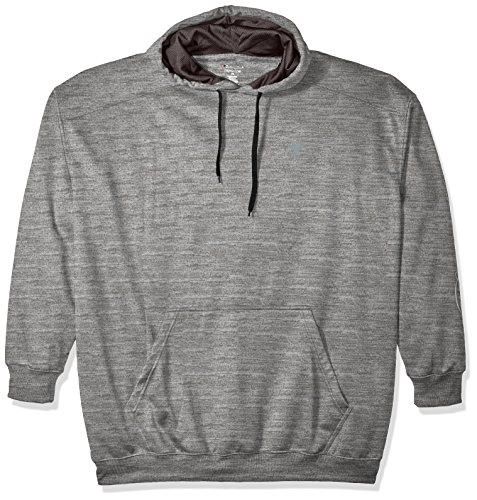 Champion Men's Big and Tall Poly Fleece PO Hood L/c c On Sleeve, Oxford, (Champion Lined Sweatshirt)