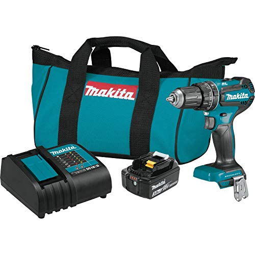 Makita XPH131 18V LXT Lithium-Ion Compact Brushless Cordless 1/2″ Hammer Driver-Drill Kit (3.0Ah)