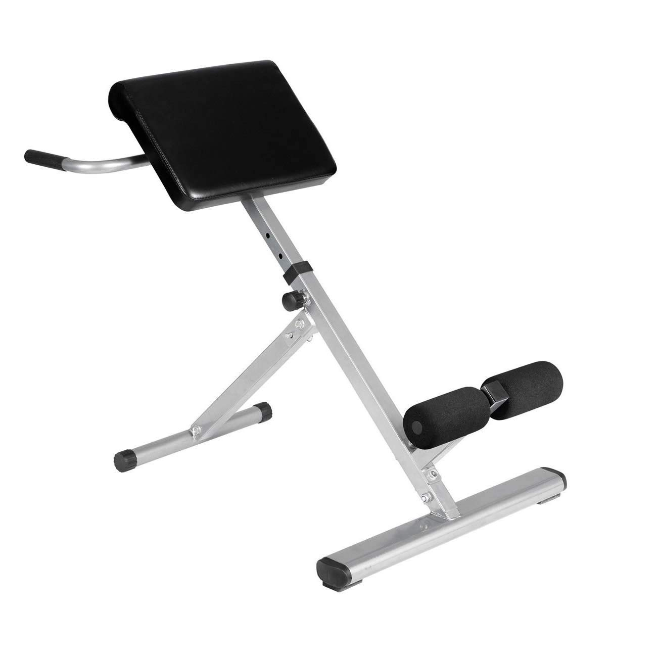 Cirocco Adjustable Roman Chair – Hyperextension Bench | Lower Back Gluteal Muscle Hamstring Abdominal Workout Strength Training Fitness Heavy Duty Support 300Lbs Help Pain Fatigue Circulation Flexible