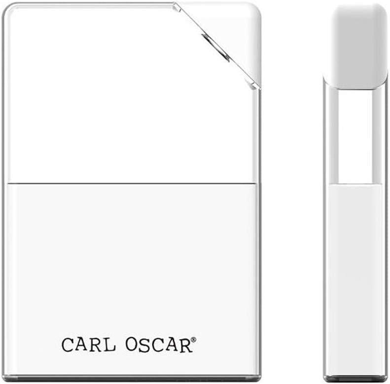 Carl Oscar Botella Plana 0,4 litros Transparente a Prueba de Fugas en Formato de Bolsillo con Cierre en Color Blanco, Guardar, Botella de Agua de 17 x 12 x 3 cm Sport Outdoor Eco-Friendly Travels