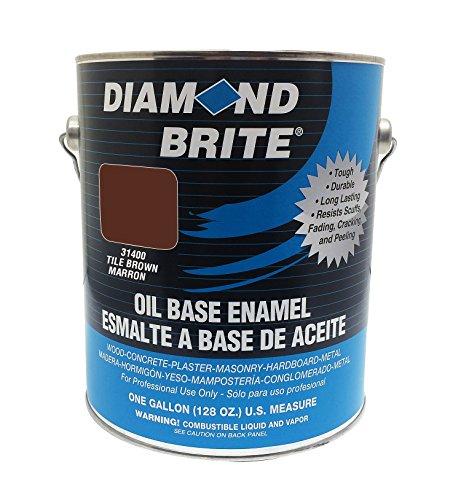 Diamond Brite Paint 31400 1-Gallon Oil Base All Purpose Enamel Paint   Tile Brown (Best Exterior Finish For Mahogany)
