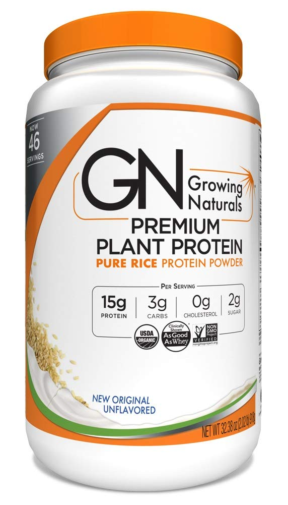 Growing Naturals Organic Rice Protein Powder, Original, 32.4 Ounce by Growing Naturals (Image #1)