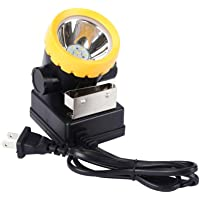 LED Mining Headlamp, Coal Miner Headlight Explosion Rroof Mining Light, Waterproof Saftety Cap Lamp BK2000 Rechargeable…