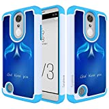 lg 3 bumper - LG Aristo Case,LG Risio 2 Case,LG Phoenix 3/Fortune/Rebel 2 LTE/K8 2017 Case Turphevm [Drop Protection] [Shock Absorption] Dual Hybrid Defender Anti-Slip Armor Case for LG LV3(Blue Angle)