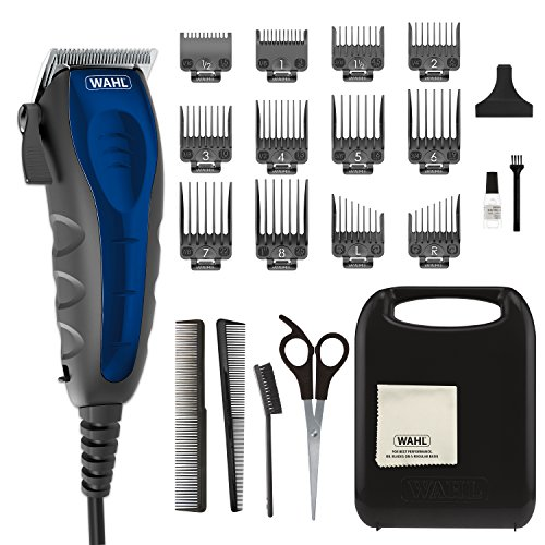 Blade Sterling Stainless Silver - Wahl Clipper Self-Cut Haircutting Kit 79467 Compact Trimming and Personal Grooming Kit