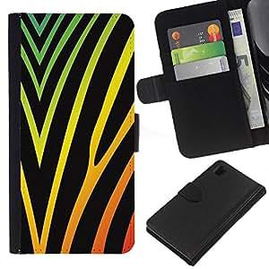 KLONGSHOP // Tirón de la caja Cartera de cuero con ranuras para tarjetas - Gorgeous textura - Sony Xperia Z1 L39 //