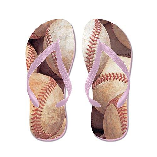CafePress Baseballs - Flip Flops, Funny Thong Sandals, Beach Sandals Pink