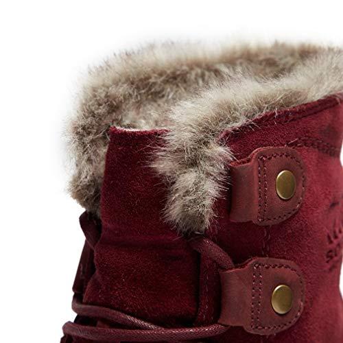 Sorel Boots Rich Snow Fossil Joan Women's Explorer Ancient Wine rPyqArI