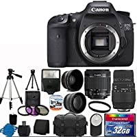 Canon EOS 7D 18MP CMOS Digital SLR Camera Bundle with Bag, Stand and Accessories Overview Review Image
