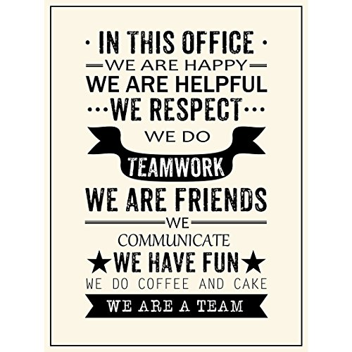 Inspirational Quotes We Are A Team Posters Prints Motivational Motto Wall Art Decor Office Teamwork Hanging Printing (17.72'' x - Team Sign