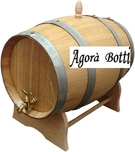 20-Litre Oak Barrel with Brass Tap Agorà Botti