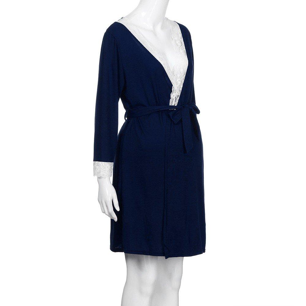Maternity Pajamas Nursing /♥ Vanvler Womens Mother Lace Long Sleeve Pregnant Sleepwear