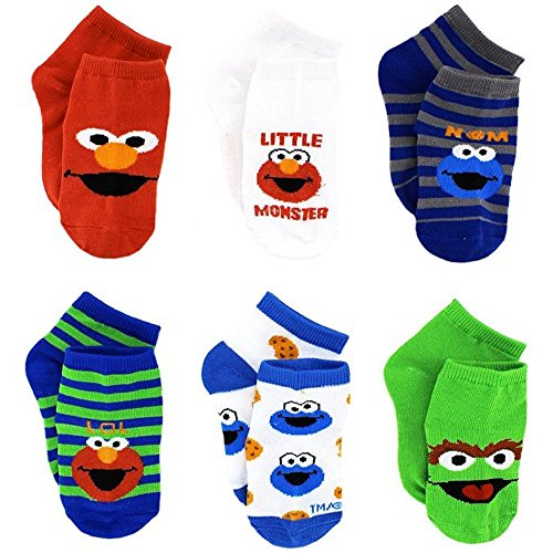 Sesame Street Infant Toddler 6 pk Ankle Socks (12-24M) from Sesame Street