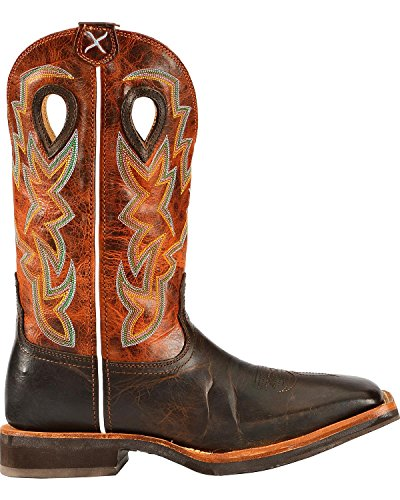 Horseman Toe Cowboy X Chocolate Boot Twisted Men's Square w8PzEEpq
