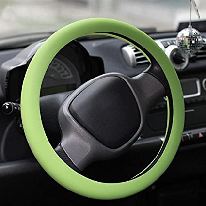 Niome Car Auto Silicone Steering Wheel Glove Cover Fit Size 13-15 Sky-blue