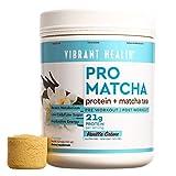 Vibrant Health - Pro Matcha, Whole Food Protein Supplement, Vanilla, 15 Servings
