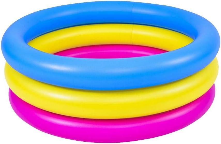 Learnarmy Piscina hinchable familiar, piscina inflable de 3 anillos para niños y niñas