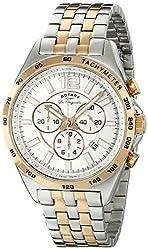 Rotary Men's gb90072/06 Analog Display Swiss Quartz Two Tone Watch
