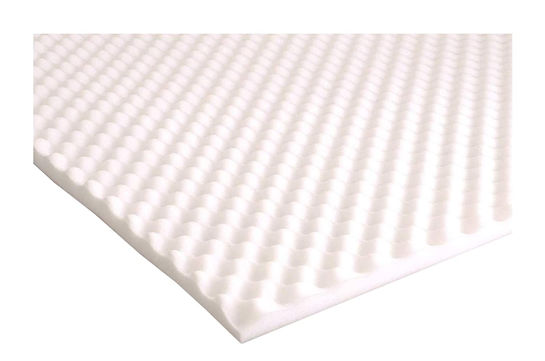 Protector de colchón / Cubrecama soporte para el alivio del dolor de caja de huevo de espuma., poliuretano, Blanco, 90 x 190 cm: Amazon.es: Hogar