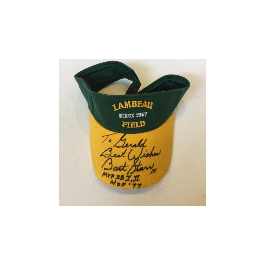 Bart Star #15 Super Bowl 1 & 2 MVP HOF 1977 Signed Green bay Packers Hat COA JSA Certified Autographed NFL Hats