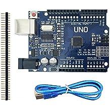 LANDZO UNO R3 Microcontroller Board with USB for Arduino (UNO R3+PIN)