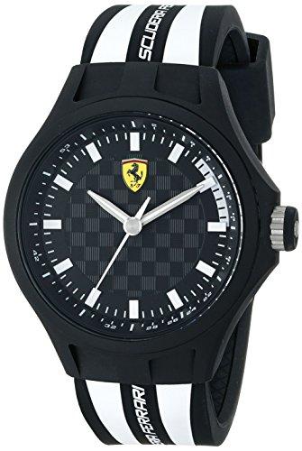 Ferrari Men's 0830191 Pit Crew Analog Display Quartz White Watch