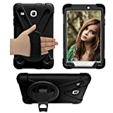 Samsung Galaxy Tab E 8.0 Case,[Hand Strap][Kickstand] 360 Degree Rotating Durable Layer Full-Body Protective Case For Samsung Galaxy Tab E 32GB SM-T378/Tab E 8.0-Inch SM-T375/SM-T377 Tablet (black)
