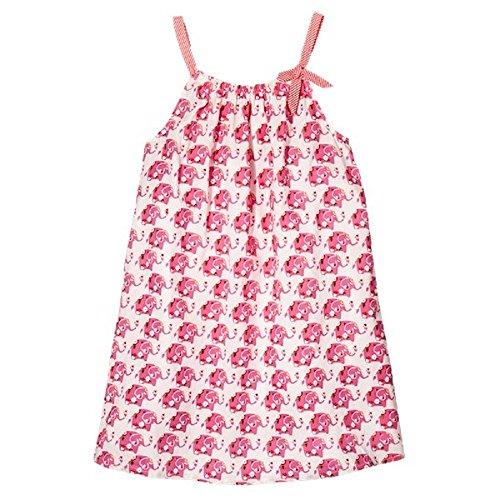 Pink Chicken Happy Elephant Print A Line Dress (6Y)