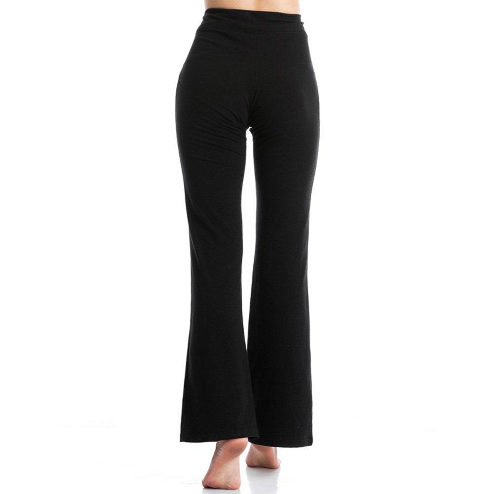 YIDAINLINE Women\'s Yoga Pants, High Waist Stretch Spandex Wide Leg Bootcut Leggings Workout Running Pants (X-Large)