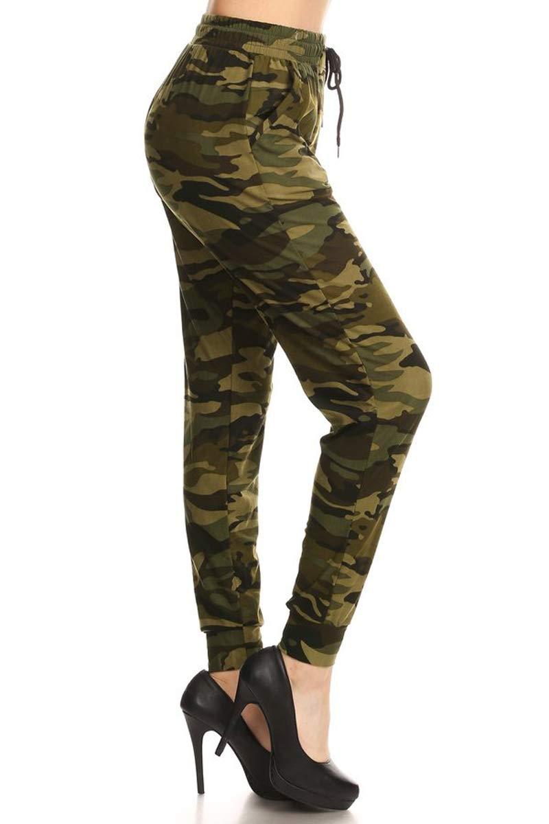 Leggings Depot JGA-N021-XL Camouflage Army Print Jogger Pants, X-Large by Leggings Depot