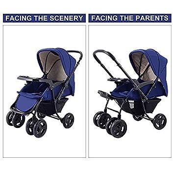 Blue Costzon Infant Stroller Two Way Foldable Baby Toddler Pushchair w//Storage Basket
