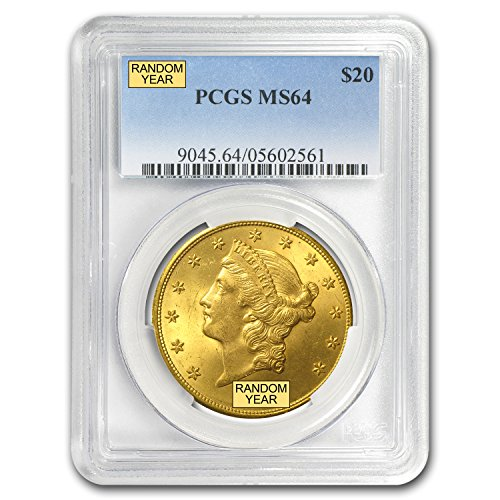 1850 – 1907 $20 Liberty Gold Double Eagle MS-64 PCGS G$20 MS-64 PCGS