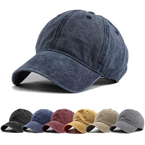 HH HOFNEN Men Women Washed Twill Cotton Baseball Cap Vintage Adjustable Dad Hat