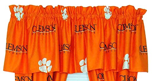 Clemson Tigers Curtain Valance From College Covers 84X15