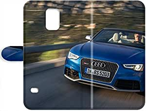 April F. Hedgehog's Shop 2015 Awesome Design 2014 Audi RS5 Cabriolet Hard Leather Case Cover For Samsung Galaxy S5 6004662PH836700472S5