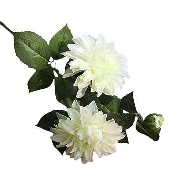 1pc Artificial Dahlia Floral Silk Flowers Fake Flower Bouquet Wedding Home Decor
