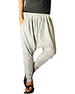 MISSMAO Hombres Harem Pantalones Pantalón Pantalones de Deportes Fitness  Suelto Entrepierna Pantalones 789f2c1c3068