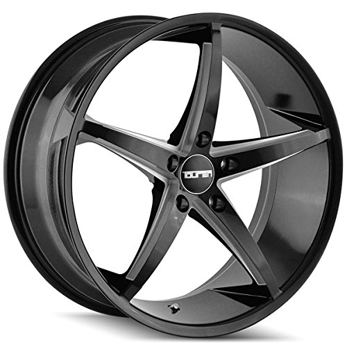 Touren 3270 TR70 18x8 5x115 +35mm Black/Milled Wheel - Chevy Impala 2011 Rims