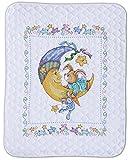 Design Works Crafts T21761 Tobin Stamped Baby Quilt, Bunny, 34'' X 43'' Stamped Baby Quilt, Bunny