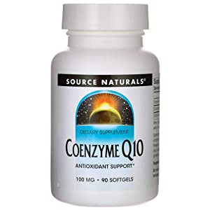 Source Natural Coenzyme Q10 Antioxidant Support 100 mg For Heart, Brain, Immunity, & Liver Support - 90 Softgels