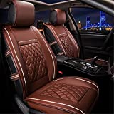 Easy to Clean PU Leather Car Seat Cushions 5 seats Full Set - Anti-Slip Suede Backing Universal Fit Car Seat Covers for Both Fabric and Leather Car Seats