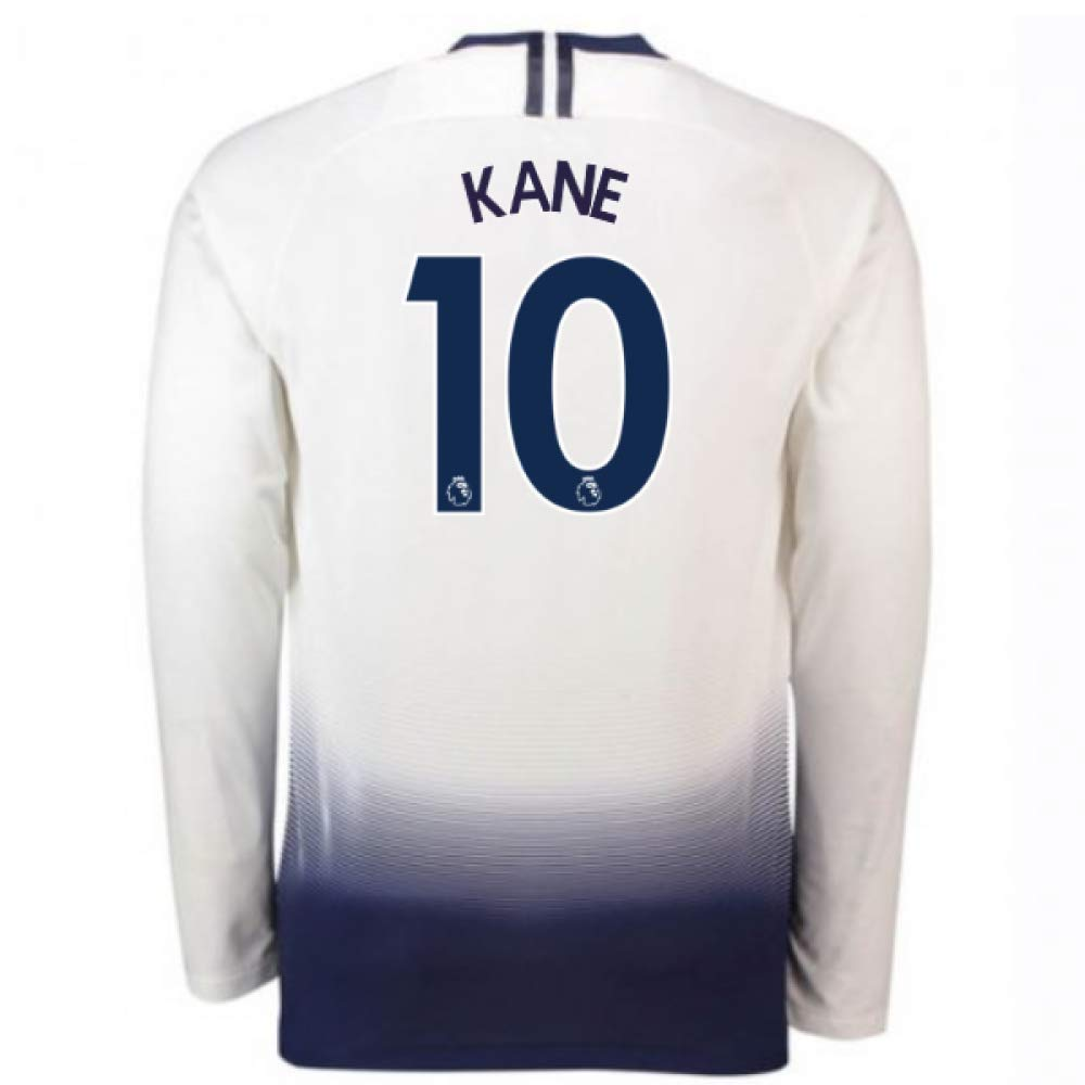 2018-2019 Tottenham Home Long Sleeve Nike Football Soccer T-Shirt Trikot (Harry Kane 10)
