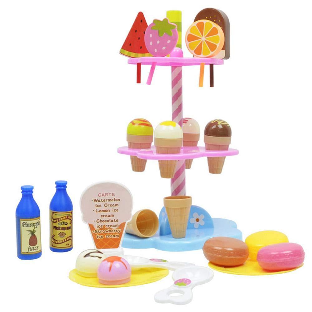 Jeu de crème glacée Desserts bricolage et support de crème glacée Jeu de simulation de jeu Jeu de produits alimentaires Magasin pour enfants Jouet Cadeau SinceY