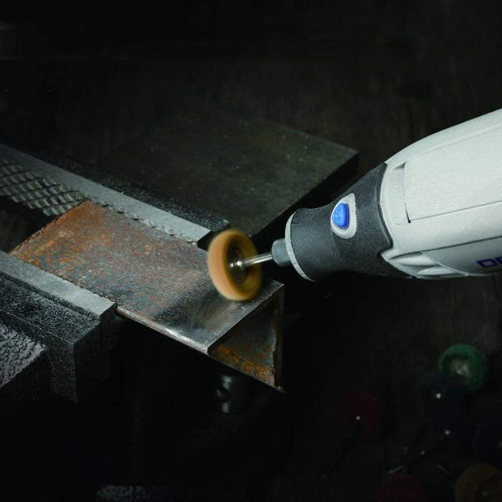 Drill Warehouse 40Pcs 1'' (25mm) Abrasive Wheel Buffing Polishing Wheel Set For Dremel Rotary Tool