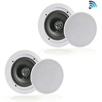 Amazon.com: Pair of Dual 8'' Bluetooth Ceiling/Wall