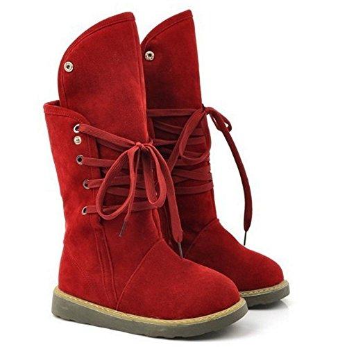 Stivali Stivali RAZAMAZA Stringate Stringate Red RAZAMAZA RAZAMAZA Donna Red Donna Y7BqRw4q