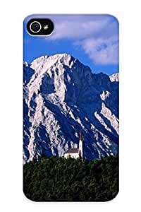 Scratch-free Phone Case For HTC One M7 Case Cover - Retail Packaging - Hillside Church And Mount Griesspitzen, Tirol, Austria